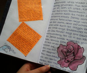 diary, journal, and rose image