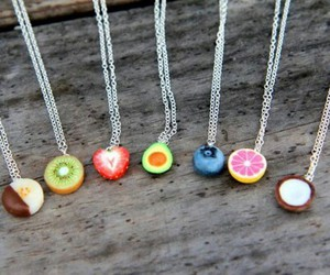 fruit, necklace, and jewelry image
