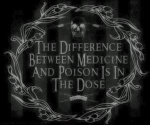 medicine, poison, and dark image