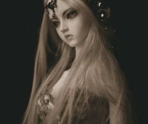 doll, beautiful, and horns image