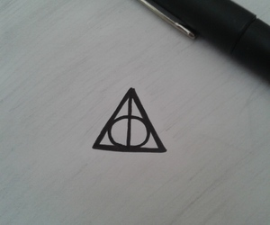 deathly hallows, drawings, and harry potter image