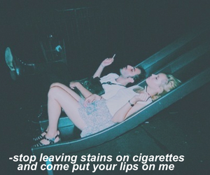 band, cigarette, and couple image