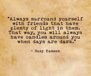 candles, friendship, and quote image