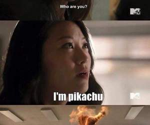 pikachu, teen wolf, and funny image