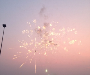 fireworks, pink, and pastel image