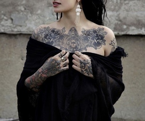 girl, tattoo, and inked image