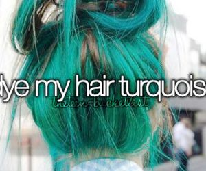 hair, turquoise, and girl image