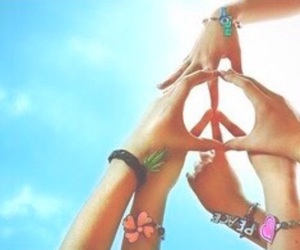 peace, friends, and hands image