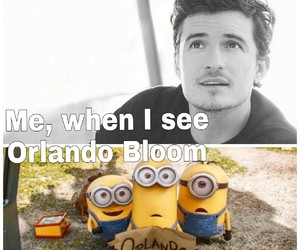 Hottie, minions, and orlando bloom image