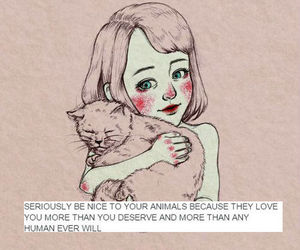 animals, quotes, and cat image