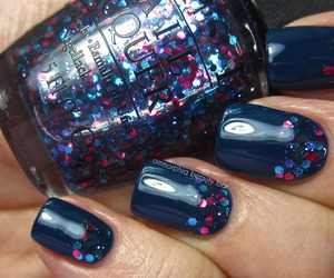 blue, glitter, and opi image