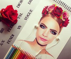 cara delevingne, drawing, and draw image