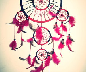 pink, Dream, and dreamcatcher image