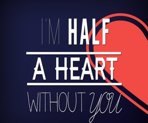 one direction, half a heart, and heart image