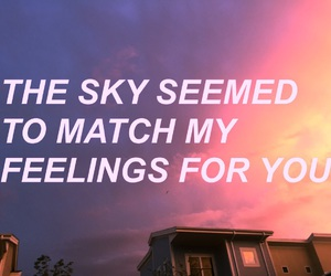 sky, love, and grunge image