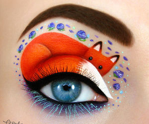 fox, makeup, and art image