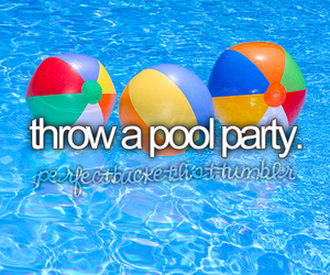 party, pool, and summer image