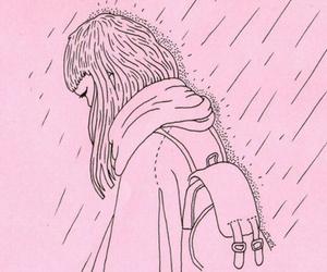 pink and rain image