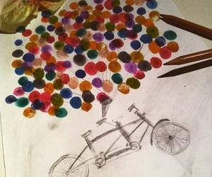 ballons, bike, and christmas image
