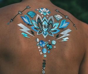 blue, beautiful, and tattoo image