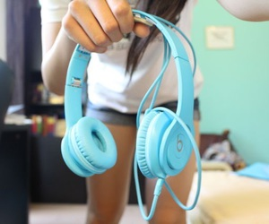 blue, beats, and headphones image