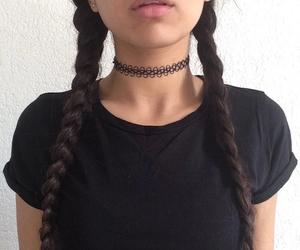 black, grunge, and braid image