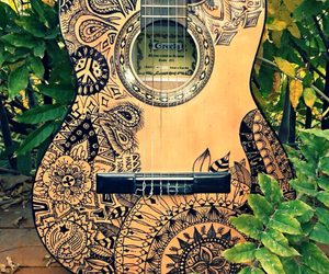 draw, guitar, and hippie image