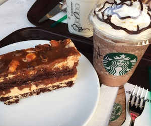 cake, turkey, and frappuchino image