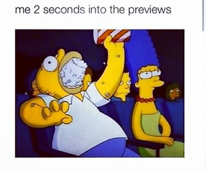 funny, popcorn, and simpsons image