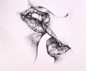 art, couple, and desenho image
