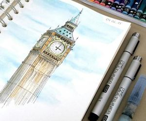 art, draw, and london image