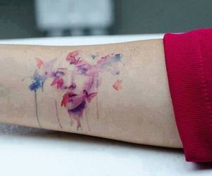 butterfly, colour, and tattoo image