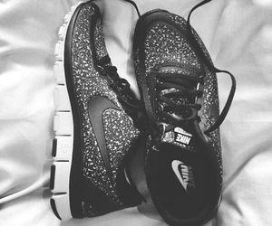basket, nike, and shoes image