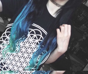 bring me the horizon, dyed hair, and sempiternal image