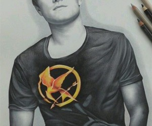 josh hutcherson, hunger games, and drawing image
