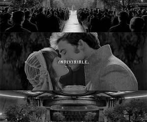 art, black and white, and hunger games image