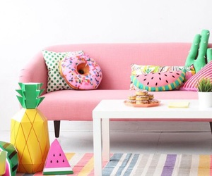 pink, donuts, and room image