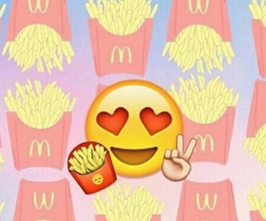 emoji, food, and fries image