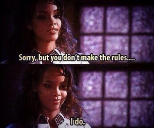 rihanna, rules, and quote image