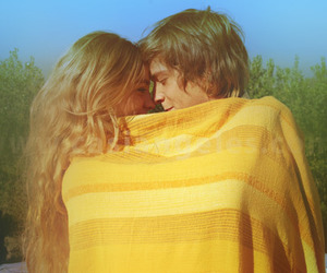 love, couple, and yellow image