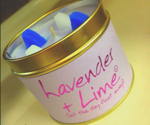 candle, credits, and lavender image