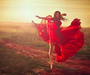 red, dance, and ballerina image
