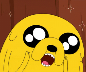adventure time, JAKe, and dog image