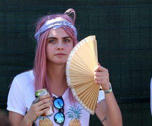 cara delevingne, hair, and pink image
