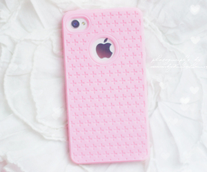 apple, pink, and iphone image