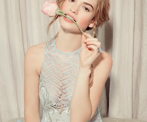 lily james, cinderella, and downton abbey image