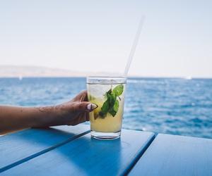 drink, mojito, and sea image