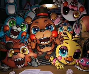 fnaf and five nights at freddy's image