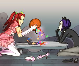 lol, raven, and starfire image