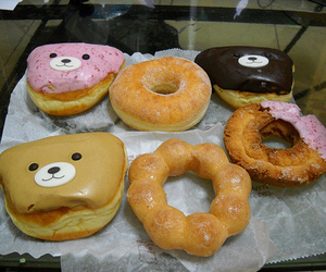 food, yummy, and donuts image